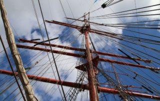 Mast Sedov Segelschiff