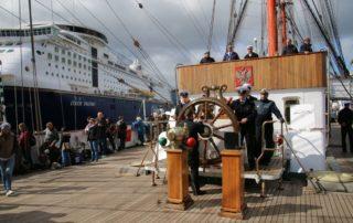 Segelschiff Sedov Oberdeck