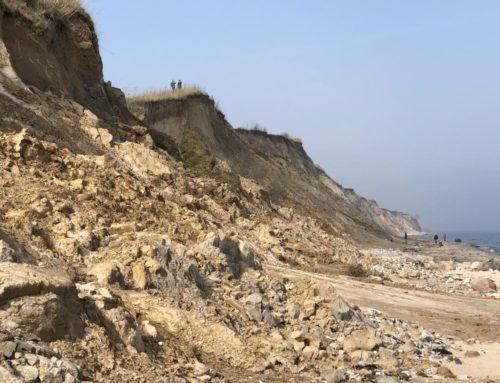 Steilküste Stohl im Frühjahr 2019