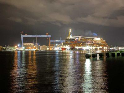 AIDAluna in Kiel Feuerwerk am 12.09.2021