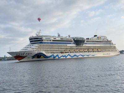 AIDAluna in Kiel Erstauslauf 2021 Ostseekreuzfahrt