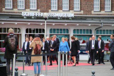 Angela Merkel & Kiels Oberbürgermeister Ulf Kämpfer Tag der Deutschen Einheit 2019 in Kiel