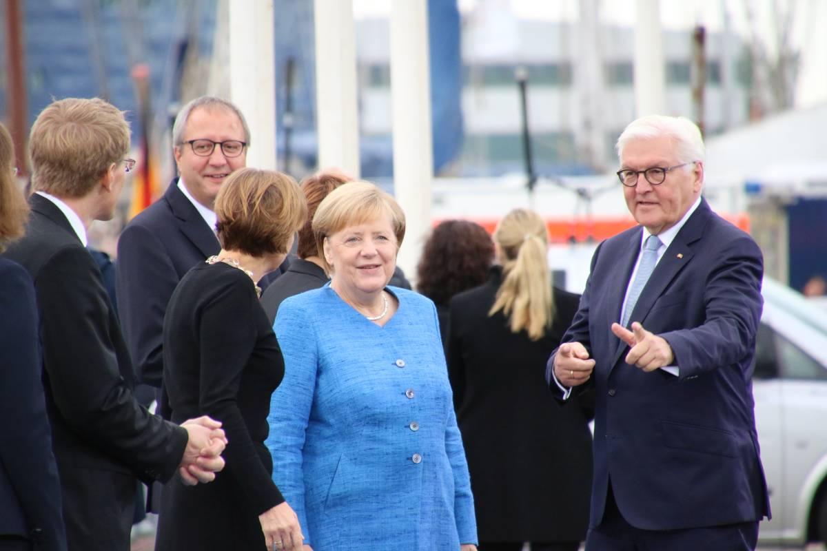 Angela Merkel & Frank-Walter Steinmeier Kiel 03.10.2019 Tag der Einheit