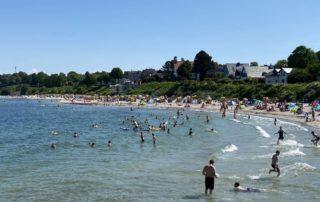 Badestrand Kiel-Schilksee Sommer in Norddeutschland