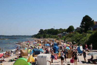 Badestrand Kiel-Schilksee im Sommer