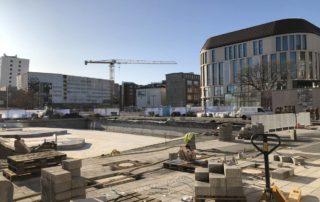 Berliner Platz Kiel Fertigstellung Kleiner Kiel-Kanal Baustelle 29.10.2019