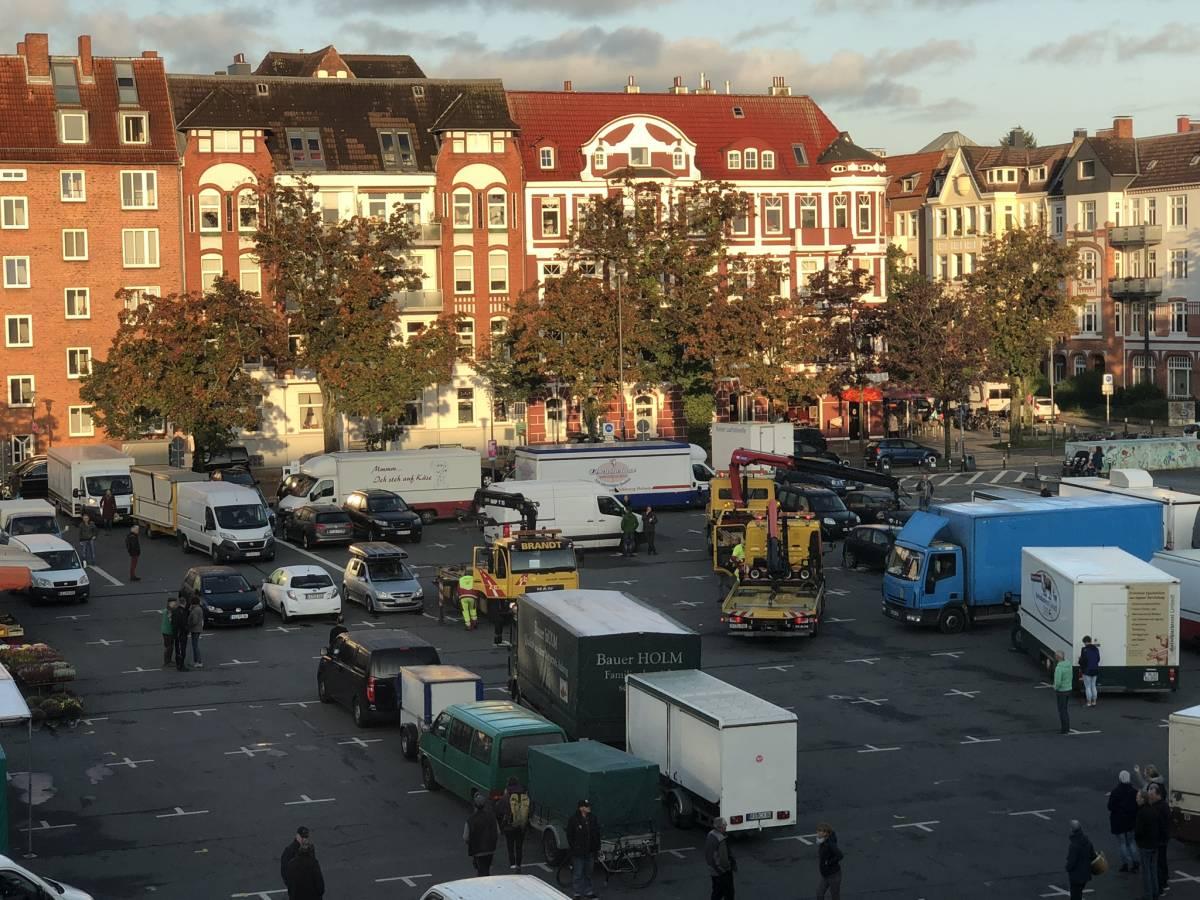 Blücherplatz Kiel Abschleppwagen