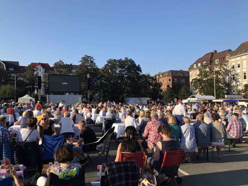 Sommeroper AIDA Übertragung Blücherplatz Kiel 24.08.2019