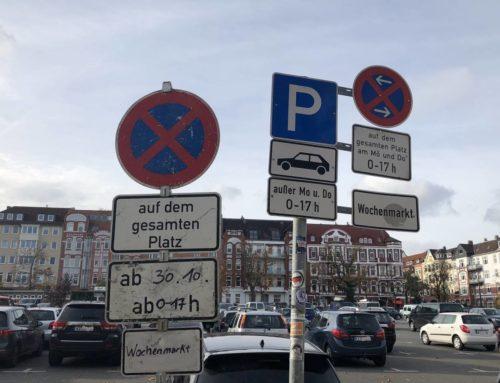 Am Mittwoch den 30.10.2019 ist Wochenmarkt auf dem Kieler Blücherplatz – Parkverbot auf dem gesamten Platz!