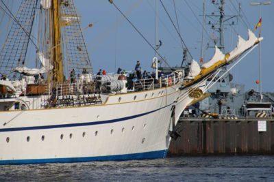 Gorch Fock in Kiel Segelschulschiff Deutsche Marine