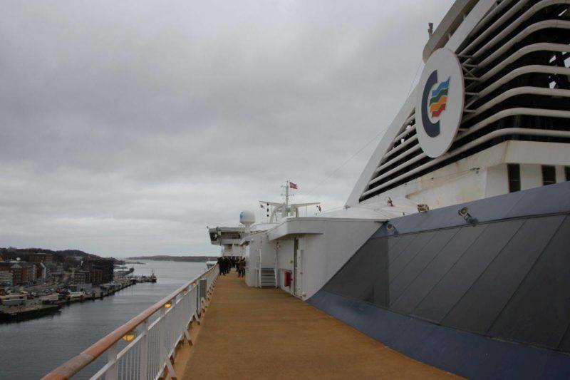 Oberdeck der Color Line - Von Kiel nach Oslo mit dem Schiff