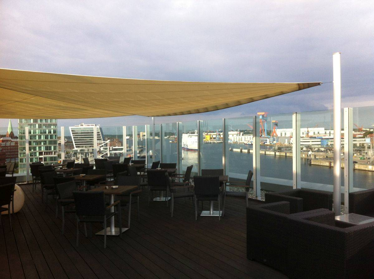 Dachterrasse Atlantic Hotel Kiel