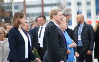 Daniel Günther & Angela Merkel Kiel 03.10.2019