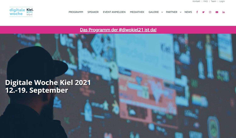 Digitale Woche Kiel 2021 Website Screenshot