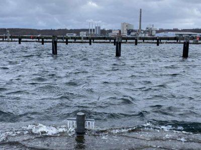 Sporthafen Kiel-Düsternbrook im Winter