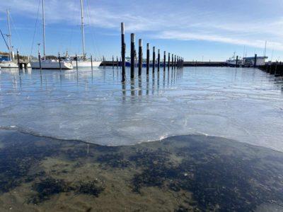 Liegeplätze Hafen Strande Winter 2021