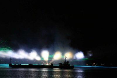 Kieler Woche Feuerwerk 2021 SFK Schlepper und Ponton