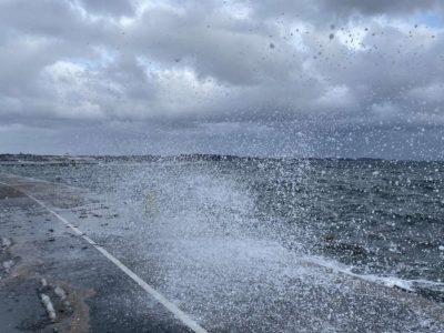 Sturm Tristan Überschwemmung Kiellinie Kiel Februar 2021