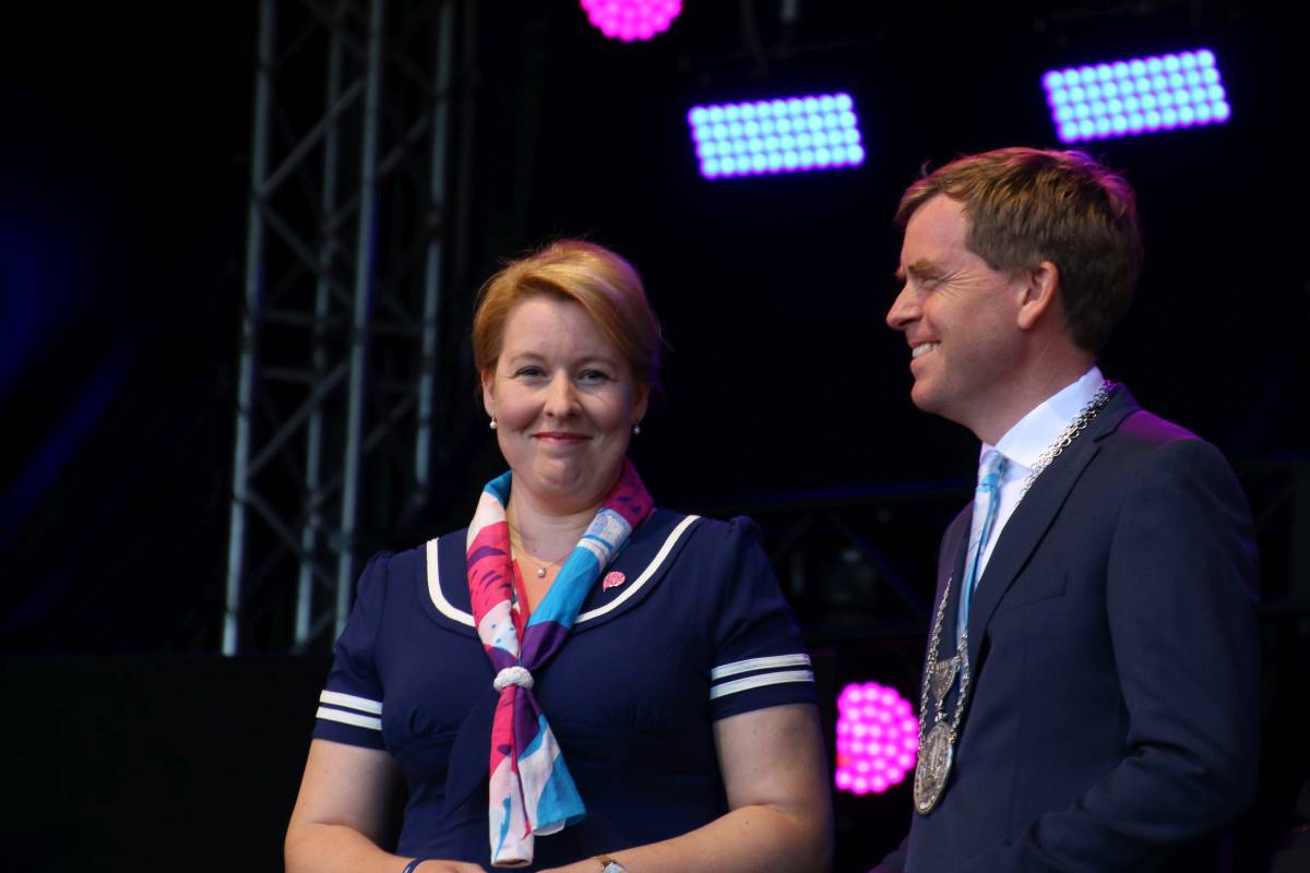 Franziska Giffey & Ulf Kämpfer Kieler Woche 2019