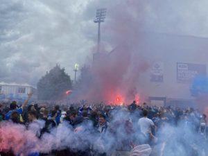 Fans Holsteinstadion Kiel - Darmstadt 23.05.2021