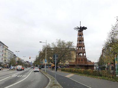 Glühweinpyramide Kiel Bernhardt-Minetti-Platz