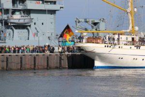 Gorch Fock Empfang in Kiel 04.10.2021