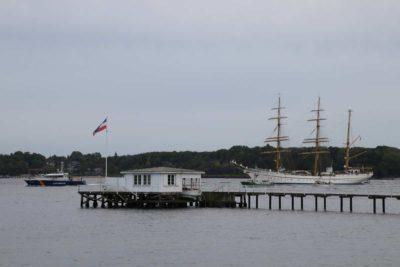 Segelschulschiff Gorch Fock in der Kieler Förde