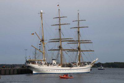 Gorch Fock macht am 04.10.2021 in Kiel fest