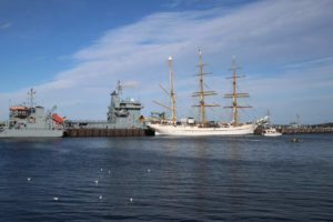 Gorch Fock Segelschulschiff Gorch-Fock-Mole Kiel