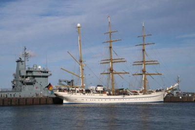 Gorch Fock im Marinestützpunkt Kiel-Wik