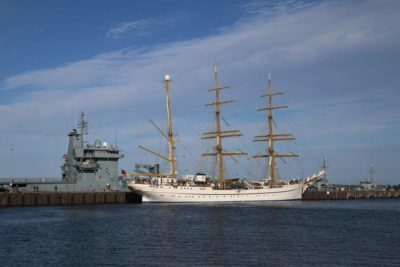 Segelschulschiff Gorch Fock in Kiel 04.10.2021