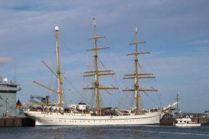 Gorch Fock Segelschulschiff im Heimathafen Kiel
