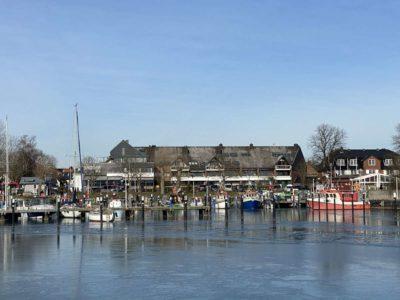 Winter in Hafen Ostseebad Strande