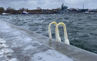 Kiellinie & Tirpitzhafen Kiel Sturm Tristan