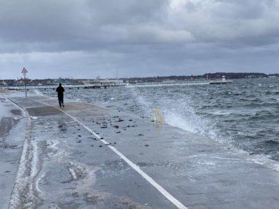 Überschwemmungen Kiellinie Kiel Hochwasser 2021