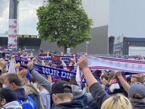 Kiel - Darmstadt Holstein Fans 23.05.2021 Holsteinstadion