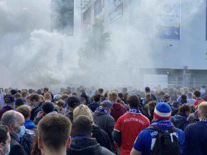 Kieler Fans Holsteinstadion 23.05.2021 Kiel - Darmstadt