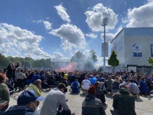 Holstein Kiel - Darmstadt 23.05.2021 Kieler Fans Stadion