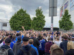 Holsteinstadion Kiel - Darmstadt Fans 23.05.2021