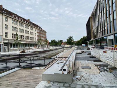 Kleiner Kiel Kanal Holstenbrücke Baustelle