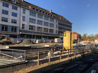 Holstenbrücke Kiel Baustelle Kleiner Kiel-Kanal am 29.10.2019