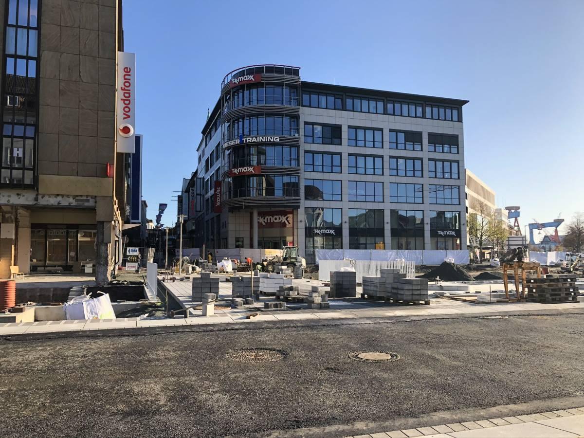 Holstenstraße Übergang Holstenbrücke Bauarbeiten Kleiner Kiel-Kanal am 29.10.2019