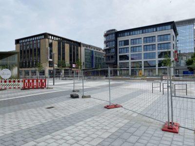 Kiel Berliner Platz Baustelle Holsten Fleet