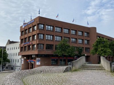Europaplatz Kiel Volksbank Gebäude