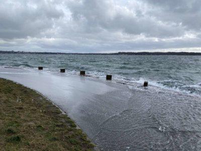 Kiel Holtenau Sturm Hochwasser Kieler Förde