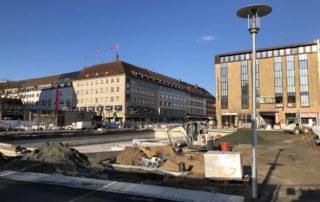 Berliner Platz Kiel Baustelle Kleiner Kiel Kanal am 29.10.2019