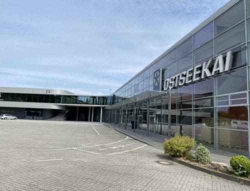 Neues Kreuzfahrtterminal am Ostseekai Kiel aber keine Schiffe in Sicht