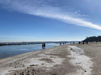 Schilksee Strand Winter 2021