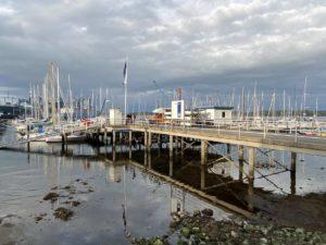 Kiel Sportboothafen Gustav-Garbe-Brücke