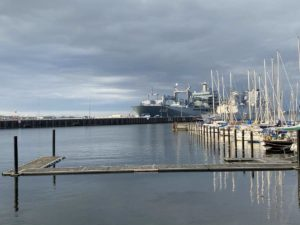 Kiel Sportboothafen Wik am Marinestützpunkt